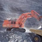 Oceana Gold's 348-tonne Hitachi EX3600-5 mining excavator, here working at the Macraes mine, is...