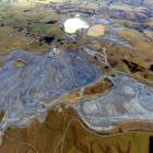 Oceana Gold's main open pit and portal to its underground Frasers mine at Macraes, in East Otago....