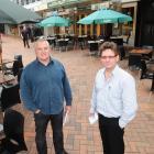 Octagon bar owners John MacDonald (left) and Phil Ellis want the Dunedin City Council to reverse...