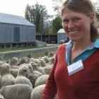 Former Otematata Station shepard Ruth Lee, from Moa Flat, inspects some of the merino sheep on...