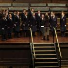Otago Girls High School choir and conductor Karen Knudson perform at the Big Sing Secondary...
