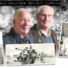 Old soldiers Bill Roulston (93, left) and Tom Dungey (91), at the Tapanui RSA this week and in...