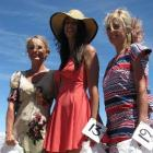Omakau races Fashion in the Field winners (from left) second-placed Jaqui Lewis, of Invercargill,...
