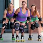 On a roll in Dunedin yesterday were New Zealand roller derby world cup squad members (from left)...