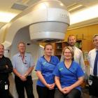 Dunedin Hospital staff (from left) medical physicist Jonathan Griffin, medical physics technician...