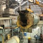 One of  four coal boilers is lifted out from the Speight's Brewery on Tuesday as part of the...