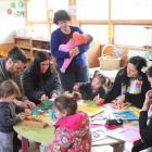 Opening day at the Tahuna Early Learning Centre. Photo supplied.