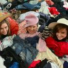 Opshop for Hospice organisers (from left) Lauren Gorinski (20), Hannah Wilson (21) and Lydia...