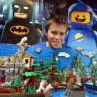 Orlando Hay with his Hobbit's Retreat, which won the  National Lego Building Competition...