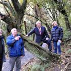 (from left) Orokonui Ecosantuary business board directors Tony Crick and Stewart Harvey with...
