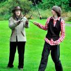 Oscar LaDell (left, 15), of Purakaunui, and Ruari Warren  (15), of Whare Flat, play with devil...
