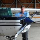 Otago Aero Club captain Warwick Sims at Taieri Airfield. Photo by Craig Baxter.