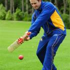 Otago batsman Neil Broom has a hit at the University Oval on Wednesday. Photo by Craig Baxter.
