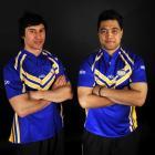 Otago co-captains Manassah Kutia (left) and Koben Katipa show off the new Whalers colours. Photo...