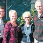 Otago Community Hospice funding and marketing coordinator Lyn Chapman (second from left) welcomes...