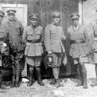 Otago conscientious objectors Harry Wardell (right) and Cecil Wardell (second from right) in...