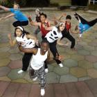 Otago Girls High School dancers (in blue) Charlotte Hayward-Gillan (14) (left) and Ashlyn Monk ...