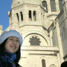Otago Girls High School pupil Crystal Diong (17) visits the church of Sacre Coeur in Paris. Photo...