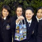 Otago Girls High School Young Enterprise group pictured with their tourist carry bag they...