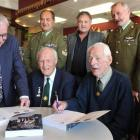 Otago Mounted Rifles members (front, from left) Clive Stringer, Ken Mowat, Murray Wilde and...