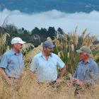 Otago Natural History Trust chairman Neville Peat  (left), Department of Conservation director...