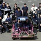 Otago Polytechnic engineering students (sitting from left) Tyler Gemmell, Sam Pickersgill, Andrew...