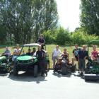Otago Polytechnic  turf management students at The Hills  last week for the New Zealand PGA, from...