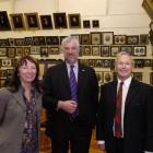 Otago Settlers Museum director Linda Wigley, Scottish Parliament presiding officer Alex Fergusson...