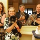 Otago SPCA supporters (from left) Sharon Lont, Philippa Kruger, Prof Jim Mann and Phil Soper ...