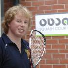 Otago University Squash Club men's captain Andrew Haines at the country's best squash club. Photo...