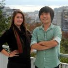 Otago University students Lara Richards and Tony Kim say they received a warm welcome after...