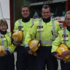 Otematata Fire Brigade volunteers Tania Leopold, Corey Westhall, Thomas Jopson and Brian Ross...