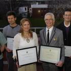 OUSA 2011 New Supervisor of the Year award winner Dr Karen Broneus (front, left) and University...
