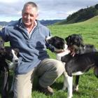 Owaka farmer Roger Sellars enjoys a day at the Oamaru Collie Club's annual trials yesterday....
