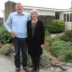 Owen Marshall and wife Jackie Jones at Alexandra's Henderson House, where Marshall is artist in...