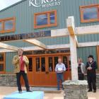 Owner Antonio Pasquale speaks at the opening of the Kurow Winery on Saturday, watched by Kurow...