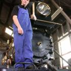 George King (18) of Oamaru Steam and Rail worked his way up to getting his license to drive steam...