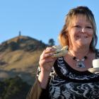 Palmerston's latest cafe owner, Margaret Paula, with a coffee and a home-made pie from her ...