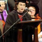 Pamela Tate, a leading constitutional lawyer in Australia, addresses University of Otago...