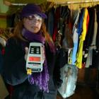 Paranormal investigator Kelly Cavanagh, at the Globe Theatre in Dunedin with some of her...