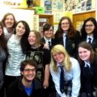 Romain Dunet (front left) with pupils, including Sashika Hendry (top right), in his year 12...