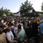 Partygoers gather in Hamburg after a teenage girl, identified only as Thessa, forgot to mark her...