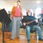 Pass master: Rockschool music examiner Jason Woolley (left) with Ra Rogerson, who sat his second...