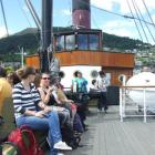 Passengers on board Real Journeys' historic steamer TSS Earnslaw in Queenstown yesterday. Photo...