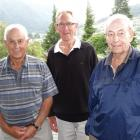 Past and present Queenstown Golf Club members (from left) Gordon McKeich, Alan Thompson and David...