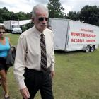 Pastor Terry Jones, right,  of the Dove World Outreach Centre arrives at a news conference in...