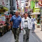 Pat McMullan (left) and Robert Brennan relax in Seoul. Photo by Sarah Marquet.