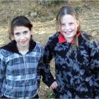 Patricia Van der Berg (11),  and Cheyan Vowles (10), both of Ranfurly.