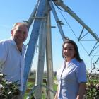 Paul Reese, project manager for IrrigationNZ, and Charlotte Butler, technical and trade project...