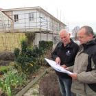 Pen-y-bryn Lodge owners, James Glucksman (left) and James Boussy check plans for the first major...